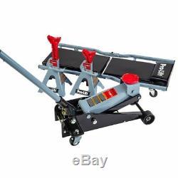 Pro Heavy Duty 3 Ton Rapid Pump Floor Jack / Jack Stand Creeper Combo Garage