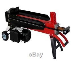 Progen Electric Hydraulic 5 Ton Log Splitter Heavy Duty Wood Timber Cutter
