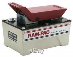 RAM PAC Heavy Duty Air Pressure Hydraulic Foot Pump HAP-050 50 Ton Capacity