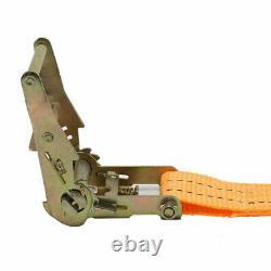 Ratchet Straps 4 x 5000kg 50mm x 10m Heavy Duty Tie Downs 5 Ton (6250kg Webbing)