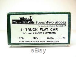 S BRASS Southwind 200 Ton 4-Truck HEAVY DUTY FLATCAR WESTINGHOUSE WECX 100