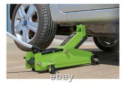 Sealey 3 Ton Car Van SUV MPV Trolley Floor Jack High Lift Heavy Duty Hi VIs