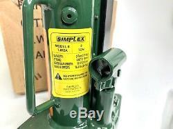 Simplex TJH2A Heavy Duty Steel Toe Jack, Load Return, 4.53 Stroke, 2 Ton, New