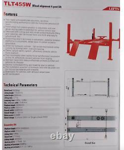 TLT455W Launch 5.5 Tons Four Post Heavy duty Hydraulic Car Lift 11,000 lbs