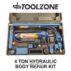 Toolzone 4 Ton 4000kg Hydraulic Heavy Duty Body Repair Kit AU279