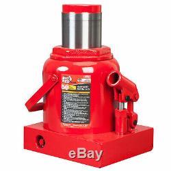 Torin Big Red 50 Ton Capacity Heavy Duty Hydraulic Industrial Steel Bottle Jack
