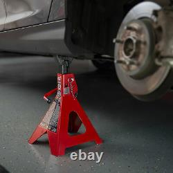 Torin Big Red 6 Ton Capacity Heavy Duty Double Locking Steel Jack Stands, 1 Pair