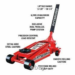 Torin Big Red Hydraulic SUV Trolley Jack, 3 Ton Capacity Steel Heavy Duty Floor