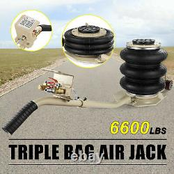 Triple Bag Air Jack 3Ton Pneumatic Lift Car Repair Inflatable Bladder Heavy Duty