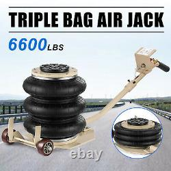 Triple Bag Air Jack 3 Ton 6600lbs Pneumatic Car Jack Lift Height Up to 16 Inch