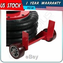 Triple Bag Air Jack 6600LBS Quick Lift 3Ton Heavy Duty Jacking Red High Quantity