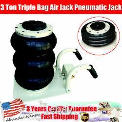 Triple Bag Air Jack Pneumatic Jack 3 Ton 6600LBS Lift Heavy Duty Jacking Max 18