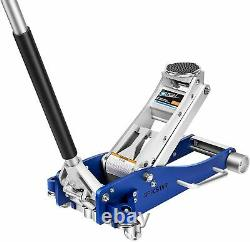 US 3 Ton Heavy Duty Floor Jack with Dual Pump Pistons & Reinforced Lifting Arm