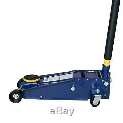 US 3 Ton Steel Heavy Duty Floor Jack with Rapid Pump Garage Shop Home Lifting