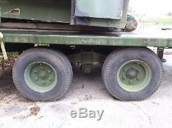 US Military Multi-Purpose 5 Ton 4 Wheeled Heavy Duty Flatbed Trailer M1061A1