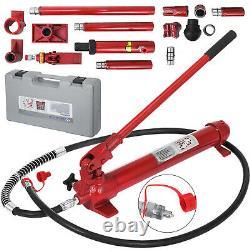 VEVOR 10 Ton Porta Power Hydraulic Jack Auto Body Frame Repair Kit 39cm Lift Ram