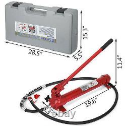 VEVOR 10 Ton Porta Power Hydraulic Jack Auto Body Frame Repair Kit Lift Ram