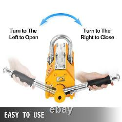 VEVOR 1.5Ton Permanent Magnetic Lifter 3300LBS Lift PML Hoist Crane Heavy Duty