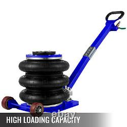 VEVOR Triple Bag Air Pneumatic Jack 5 Ton Lift Jack 11000 lbs Heavy Duty 15.75
