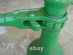 Vintage Heavy Duty 20 Ton Ratchet Screw Jack 2 x 15 Railroad House Barn Tool