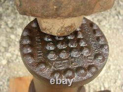 Vintage RAILROAD HYDRAULIC PUMP JACK HEAVY DUTY Simplex 25 Ton Jack 5 Rise