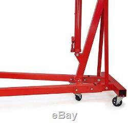Warmiehomy Heavy Duty 1 Ton Folding Engine Crane Stand Hoist Lift Jack Workshop