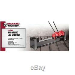 Wood Log Splitter Cutter 10 Ton Hydraulic Manual Heavy Duty Firewood Kindling