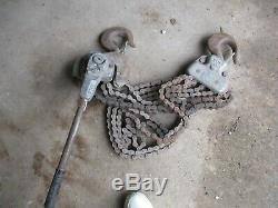 Yale 6-ton Chain Hoist Roller /come Along Lever Lift Heavy Duty Rare